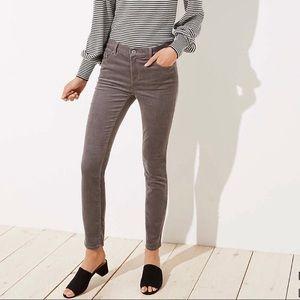 Loft Modern Skinny Corduroy Jeans Grey-NEW W/TAGS